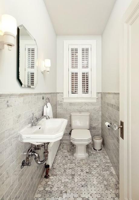 How To Make A Narrow Powder Room Feel Inviting And Comfortable – 15 Ideas: