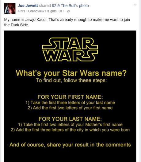 joe star wars name