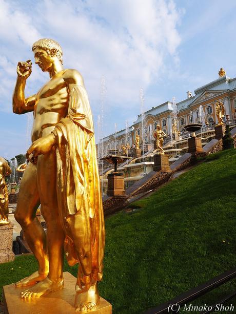 """水飛沫が眩しいペテルゴフ夏宮殿 / Peterhof Palace, Петерго́ф, """"Russian Versailles"""""""