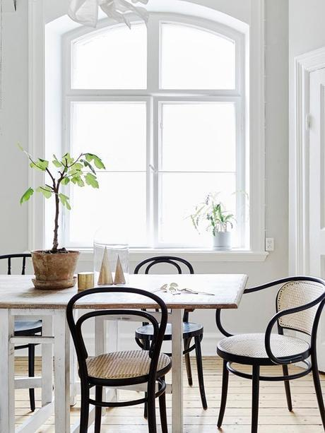 Black Bentwood Chairs: