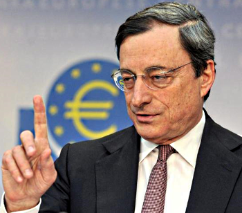 European Central Bank President Mario Draghi pontificates [courtesy Google Image]