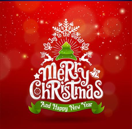 Merry christmas happy new year vector design paperblog for New design wallpaper 2016