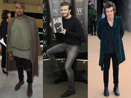 kanye, harry styles, and david beckham