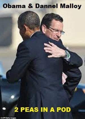 Dannel Malloy hugs Obama