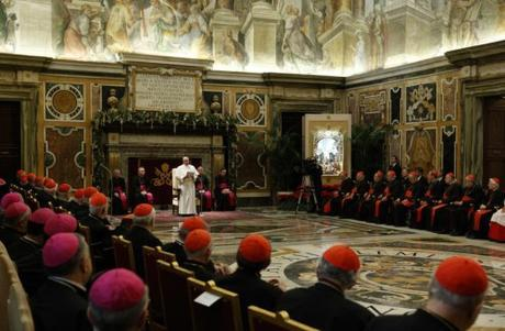 "In his Christmas Allocution of 2014 in the Sala Clementina, inside the Apostolic Palace of the Vatican, Pope Francis rebuked his employees by listing for them some ""15 illnesses"" of the Curia. This castigation by the Head of the Church caught the attention of the world."