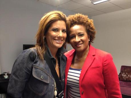 Amanda Sanders with Wanda Sykes comedian, writer, actress, and voice artist.
