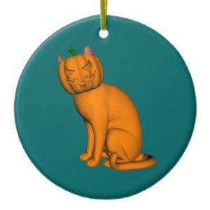 Children, gather around the fireplace as I tell you the story of the Christmas Pumpkin Head Demon Cat....