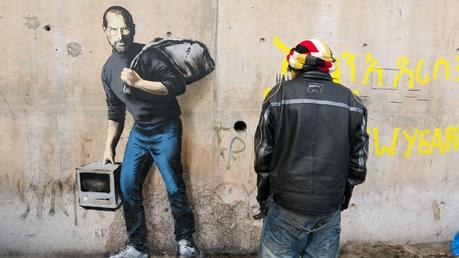 New Banksy Steve Jobs artworks in France