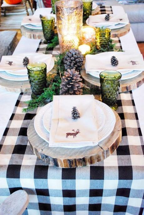 Rustic Winter Tablescapes Holiday Table Settings