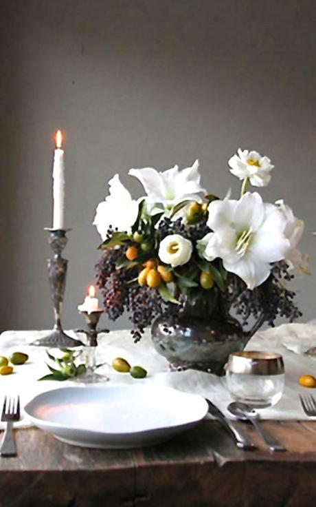 Winter Flower Arrangements Holiday Tablescapes Lush Dutch Inspired Florals