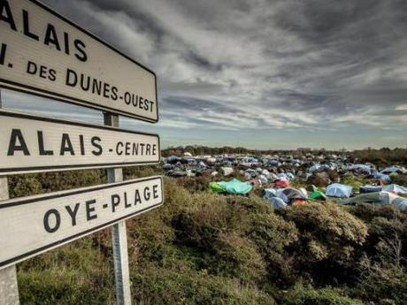 Refugee camp in Calais
