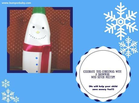 Snowman Money Bank DIY with your Toddler this Christmas