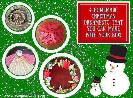 4 Easy Homemade Christmas Ornaments DIY