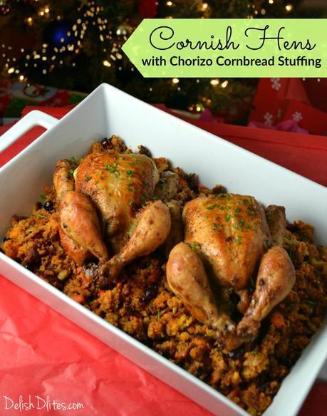 Ad: Cornish Hens With Chorizo Cornbread Stuffing