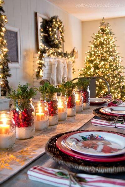 How one blogger combined rustic and glam decorating ideas to deck her home for the holidays.: