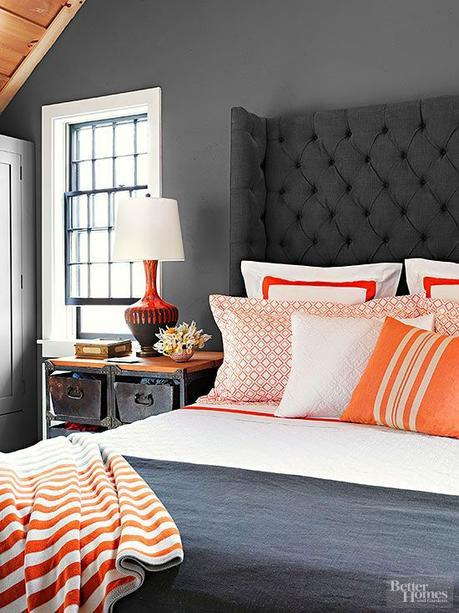 DON'T Forget the Headboard Taller headboards introduce a vertical element that can enlarge the sense of space: