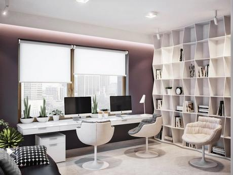 modern office design at home