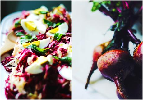 Raw Beetroot + Apple + Egg Salad with Cumin Vinaigrette /// (Vegetarian)
