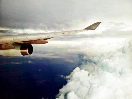 Airplane Flight Wing flying to Travel on Vacation bath tub tubs exotic unique location destination around the world international travel relaxing calm places