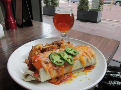 Thirsty Lion Breakfast Burrito with a Green Flash Imperial IPA