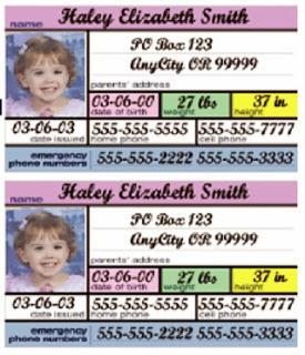 Image: FREE GIFT New Baby - Free Car Seat ID Tag