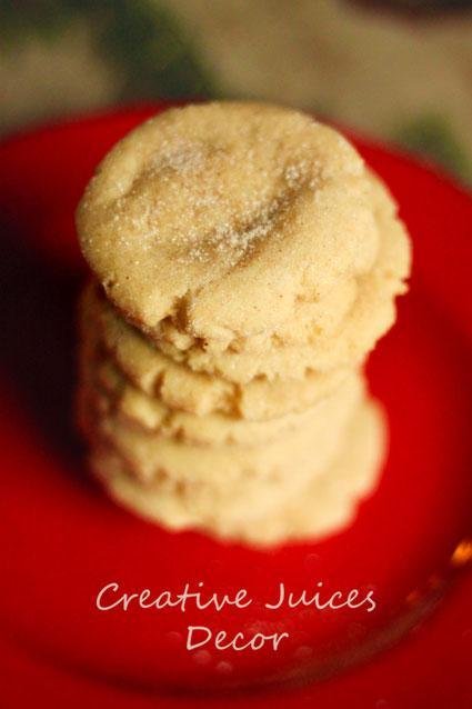 Chewy Chai Snickerdoodle Cookies - The Classy NOT Trashy Ones