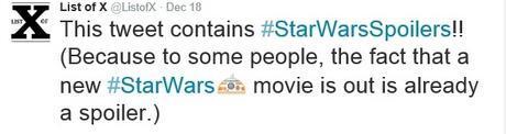 list of x star wars