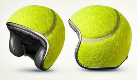Tennis Ball Crash Helmet