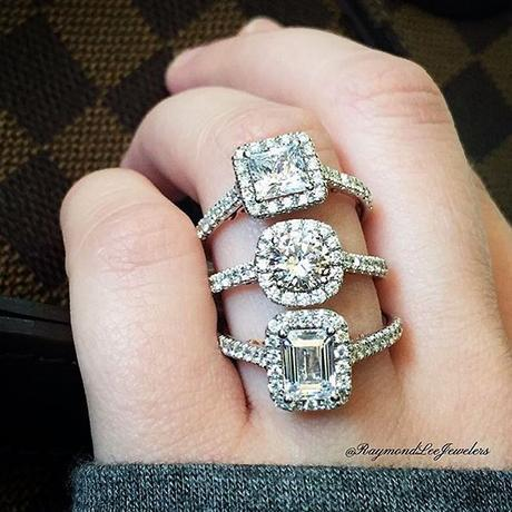 Perfect halo engagement rings