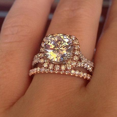 two tone rose gold engagement ring
