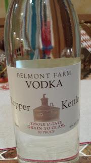 Another Corn Vodka, Virginia's Belmont Farm Kopper Kettle Vodka