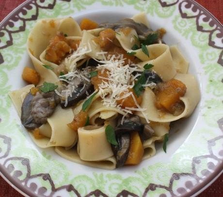Wild Boletus Mushroom and Pumpkin Pappardelle – Pappardelle con Porcini e Zucca