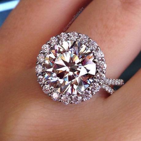 Uneek halo engagement ring