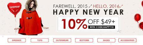 Shop for New Year 2016 at Choies