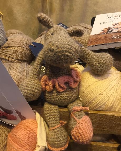 Toft crocheted ballerina hippo