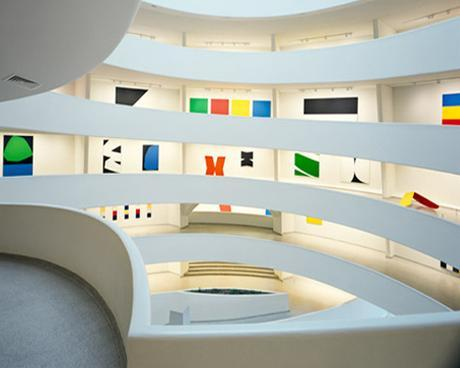 Ellsworth Kelly Installation At The Guggenheim Museum In NYC