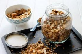 Coconut Macadamia Nut Granola (GF, Vegan, Refined SF)