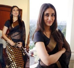 Kareena-Kapoor-in-black-saree