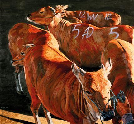 Nyoman Wijaya - cow paintings
