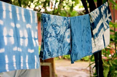 Indigo dyed fabrics