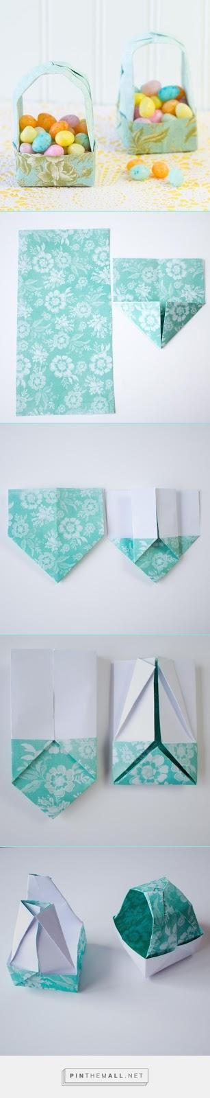 Origami Easter Gift Basket Tutorial Paperblog