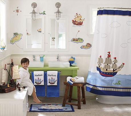 Cool Nautical Shower Curtain Bathroom display pirate theme nautical look design style how to tips advice designer professional expert top best most