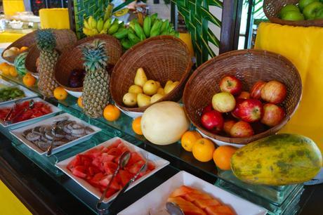 Breakfast buffet at Shangri-La, Villingili