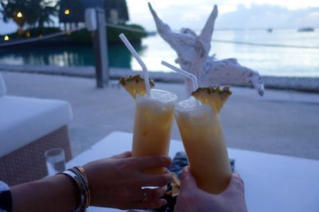Sunset cocktails at Villingili, Maldives