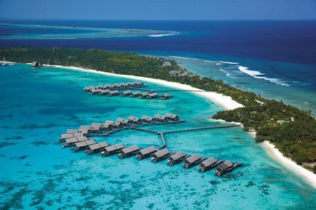 Shangri-La from plane, Maldives