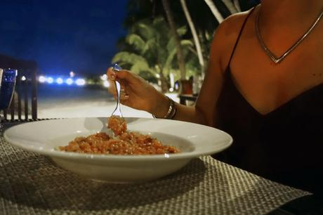 Dinner on the beach at Villingili