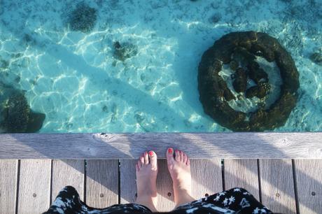 The lagoon at Shangri-La, Maldives