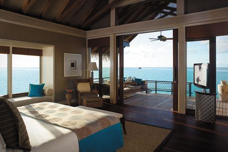Water Villa interior, Shangri-La, Maldives