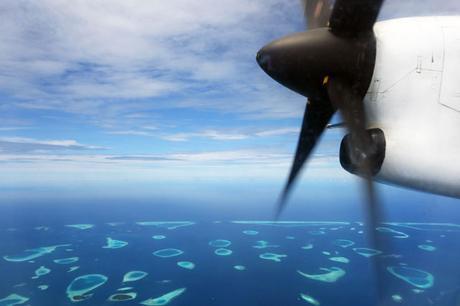 Maldives Sea Plane View