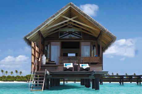 Water Villa from the sea, Maldives